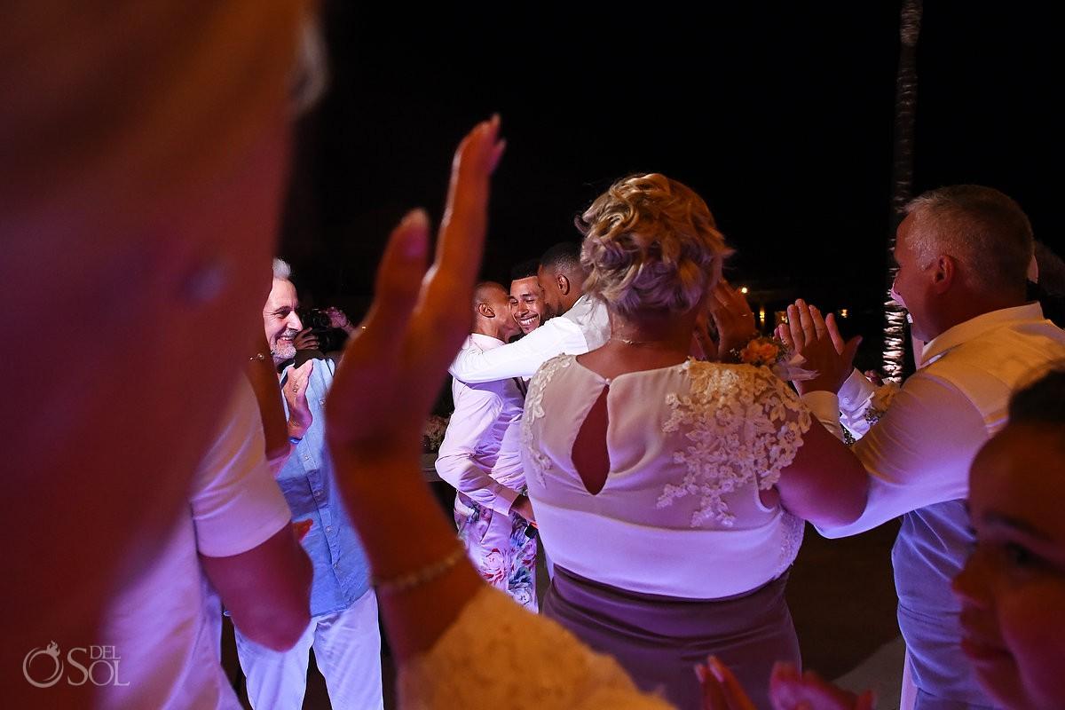 destination wedding reception Dreams Tulum Riviera Maya Mexico