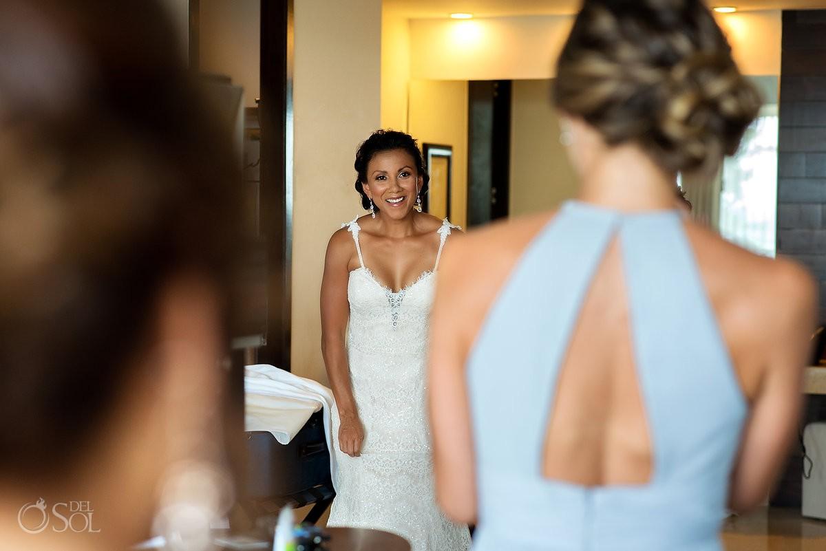Beautiful bride ready to get married Grand Velas Riviera Maya Playa del Carmen Mexico