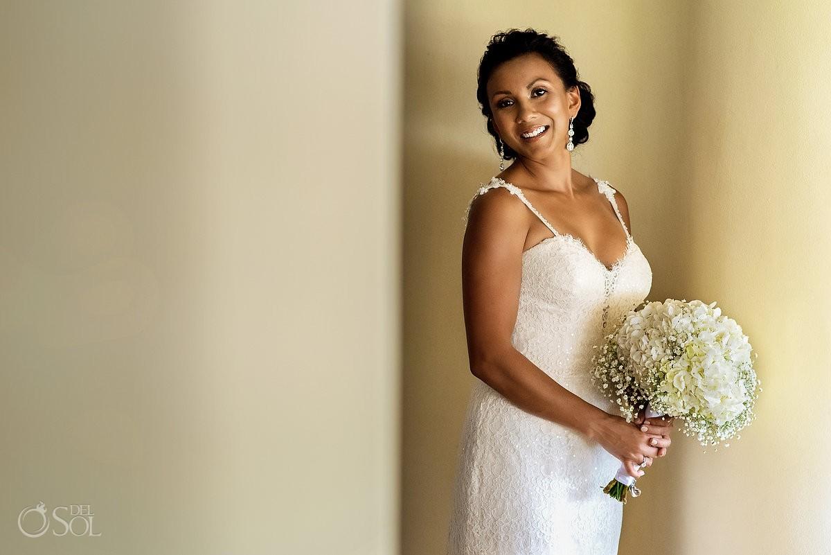 Bride portrait Grand Velas Riviera Maya Playa del Carmen Mexico
