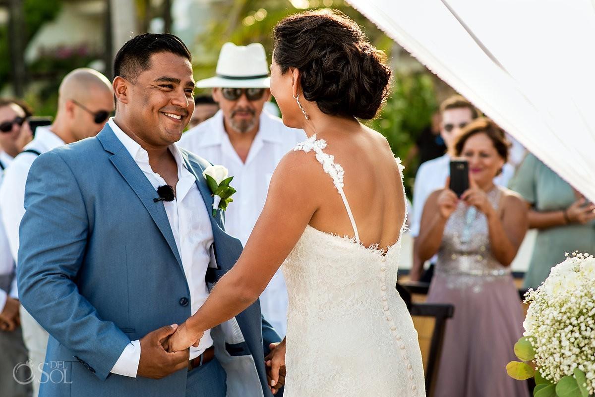 groom first look emotional wedding moments Grand Velas Riviera Maya Playa del Carmen Mexico