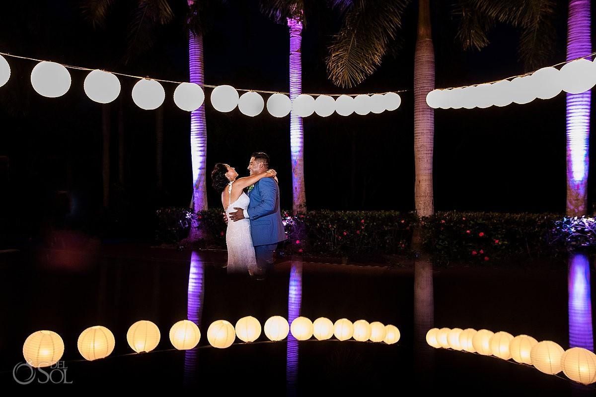 Bride and Groom first Dance Grand Velas Riviera Maya Playa del Carmen Mexico