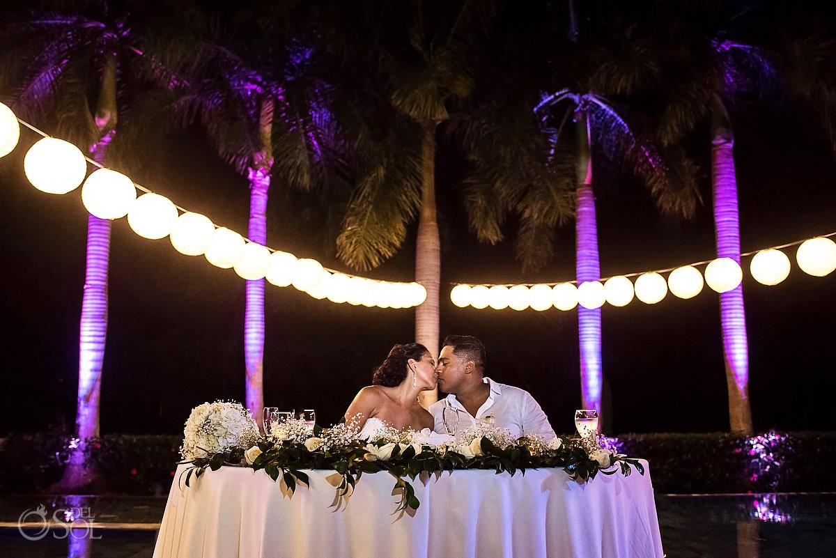 Destination wedding reception Grand Velas Riviera Maya Playa del Carmen Mexico