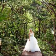 Bride in middle jungle beautiful portrait Dreams Tulum Riviera Maya Mexico