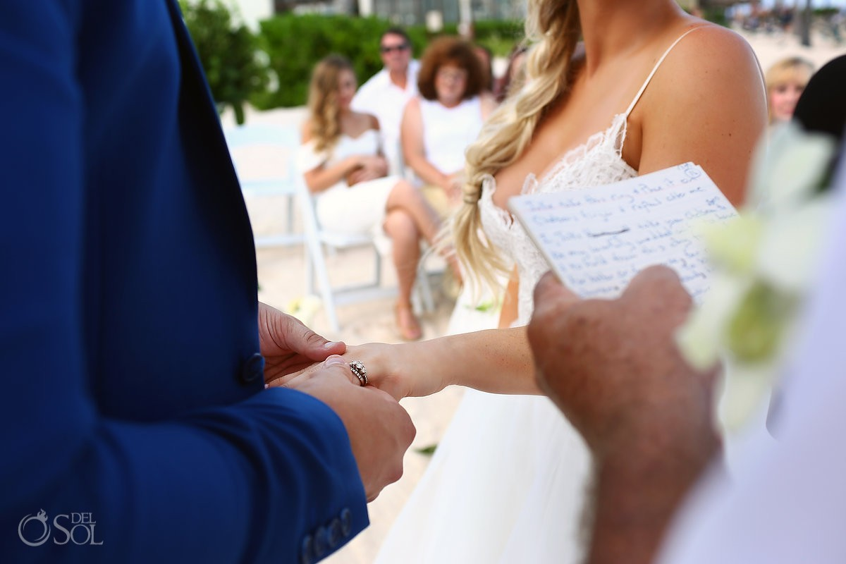 exchange of wedding rings destination weddings Dreams Tulum Riviera Maya Mexico