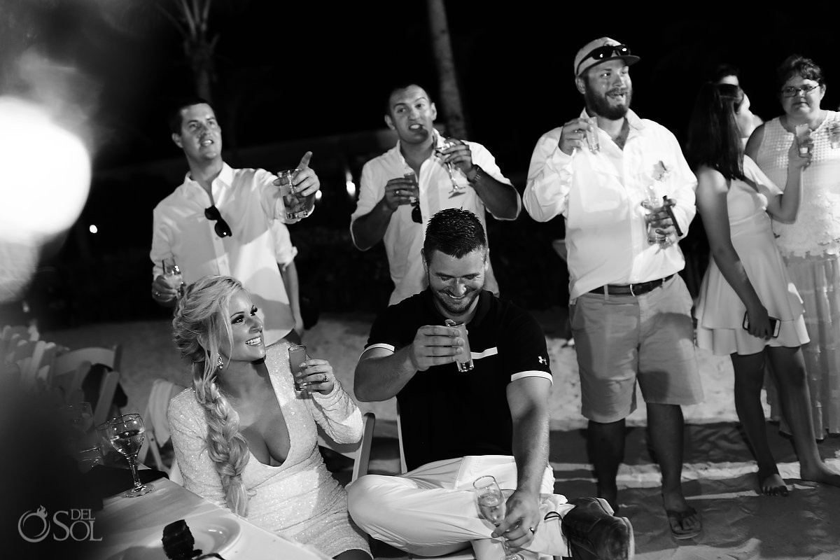 Destination wedding reception Dreams Tulum Riviera Maya Mexico