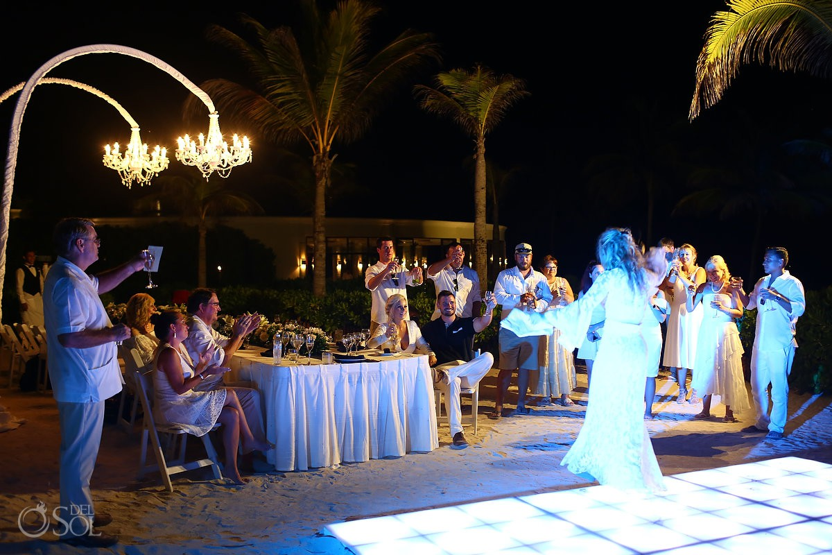 Mother of the bride wedding reception toast Dreams Tulum Riviera Maya Mexico