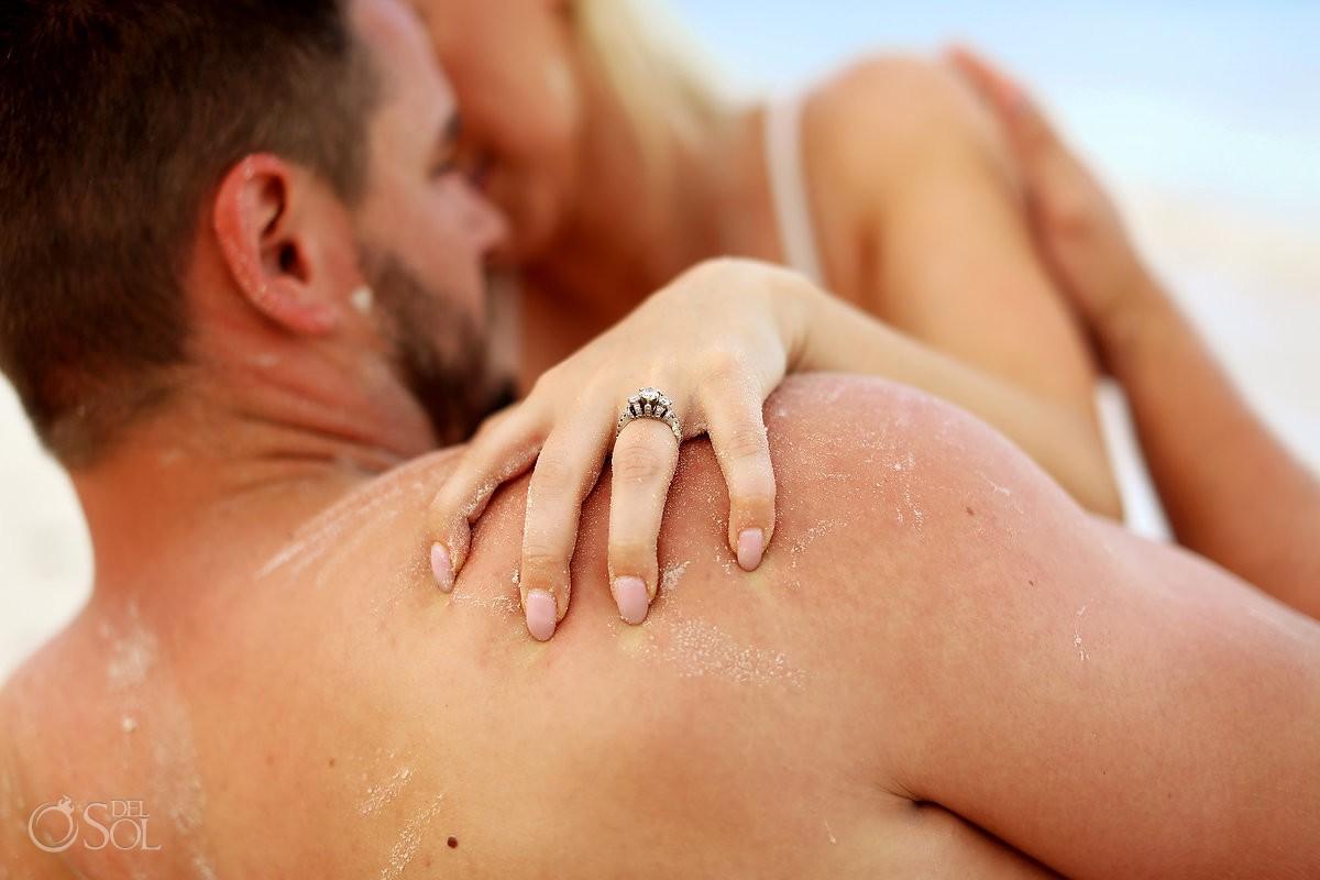 couples boudoir engagement ring creative photo