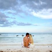 Dreams Tulum lovers on the beach beach boudoir with couples Riviera Maya Mexico #Aworldofitsown