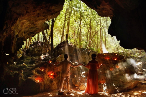 Amazing wedding vow renewal photography Cenote Riviera Maya Mexico