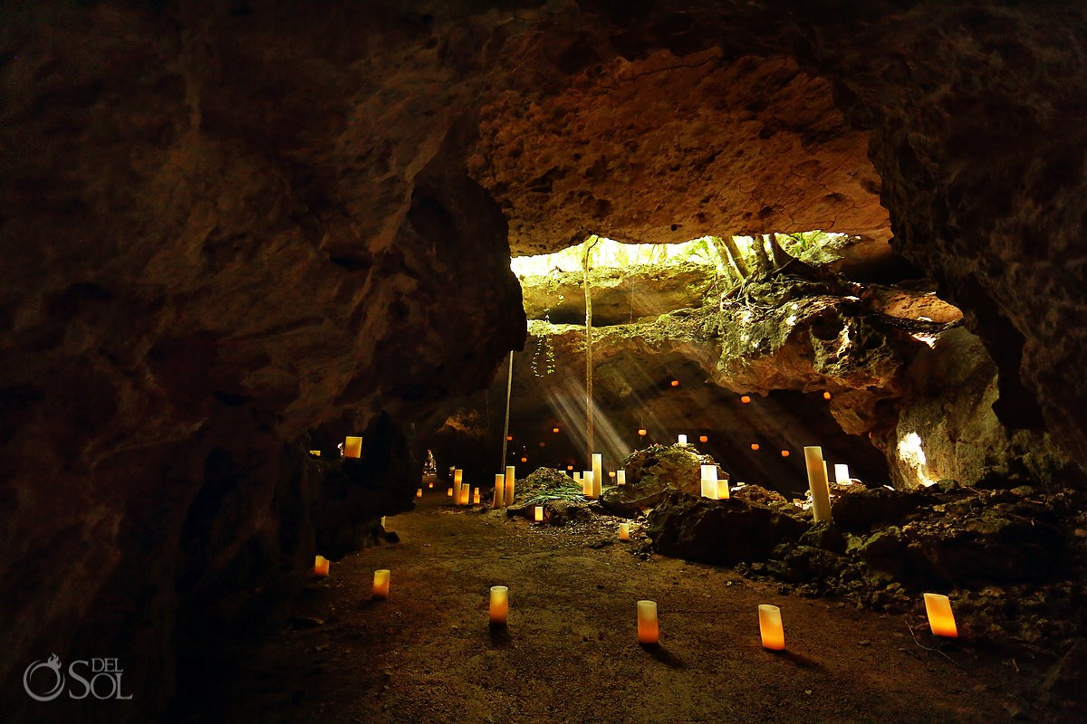 Candles of love middle of jungle Tulum Mexico