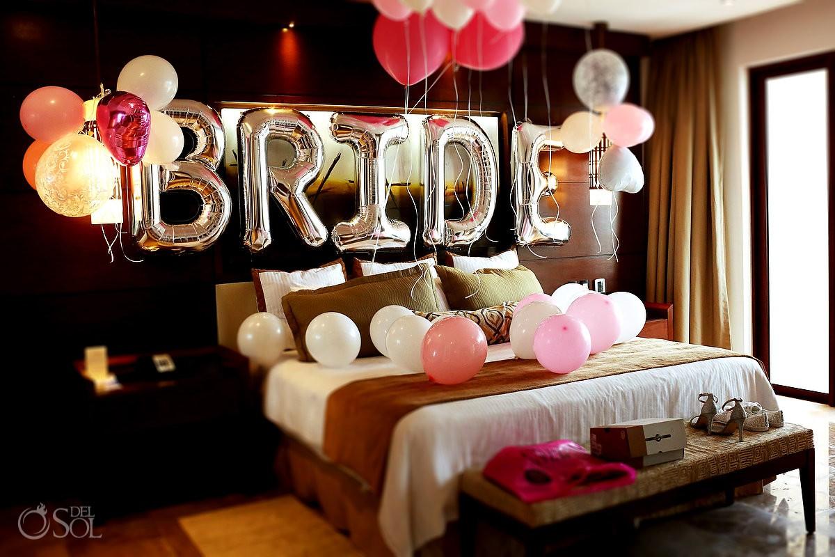 getting ready bride room decoration ideas Secrets Playa Mujeres Wedding Photographer #aworldofitsown , Cancun, Mexico