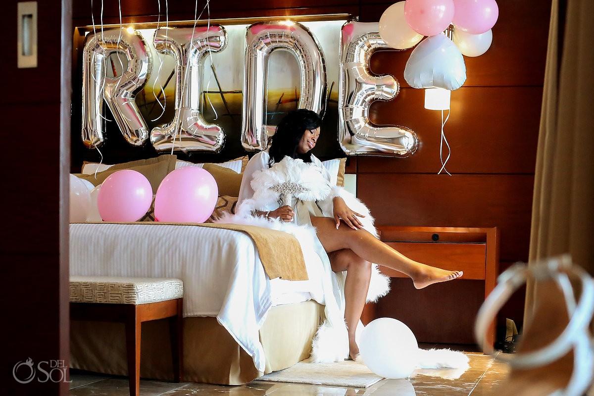 Bride Boudoir getting ready Secrets Playa Mujeres Golf & Spa Resort Cancun Mexico
