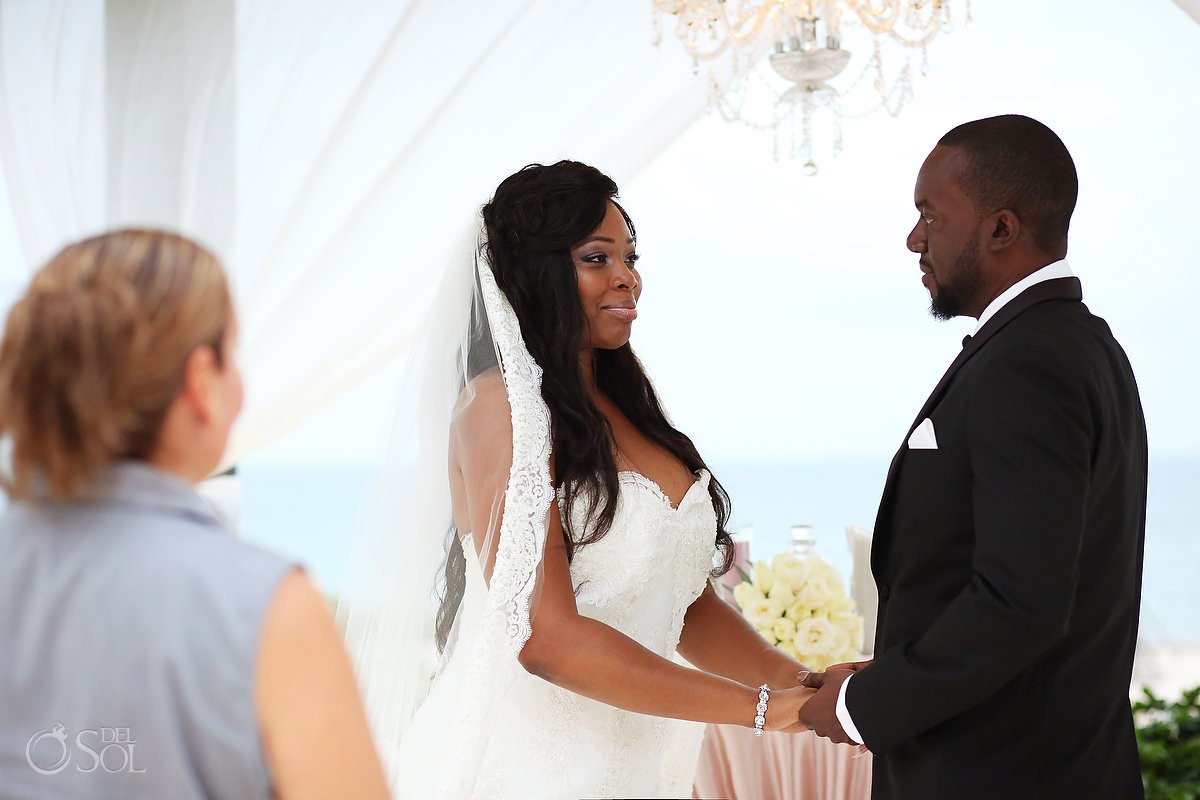Bride and groom Secrets Playa Mujeres Golf & Spa Resort Cancun Mexico