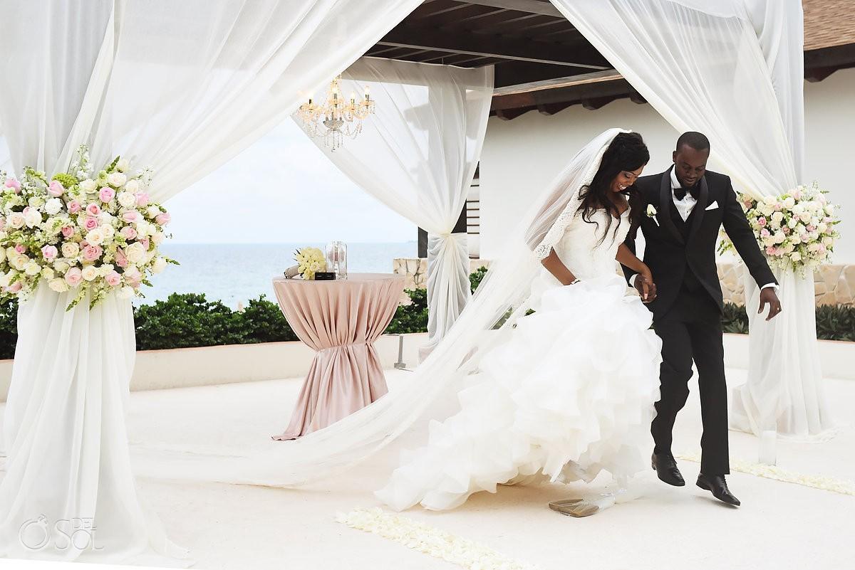 Just married Elopement #destinationwedding Secrets Playa Mujeres Wedding Photographer #aworldofitsown Cancun Mexico