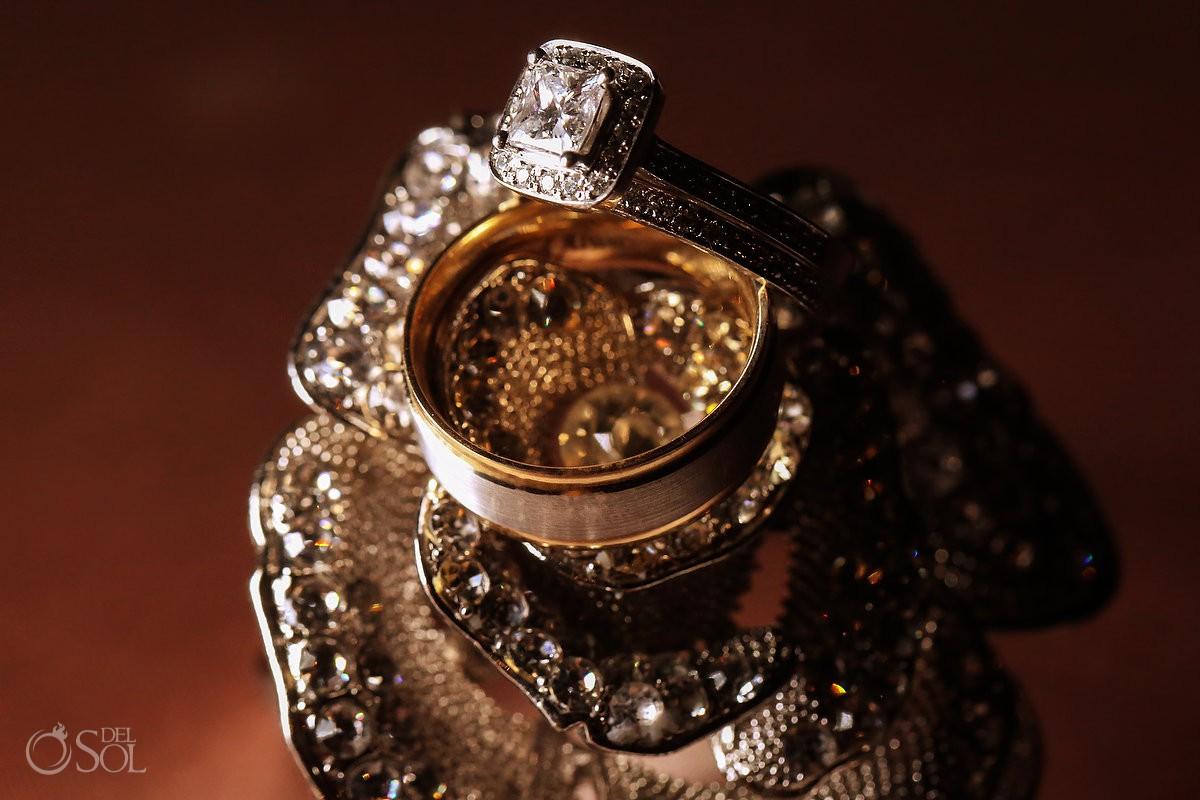 Bride and groom wedding rings Secrets Playa Mujeres Golf & Spa Resort Cancun Mexico
