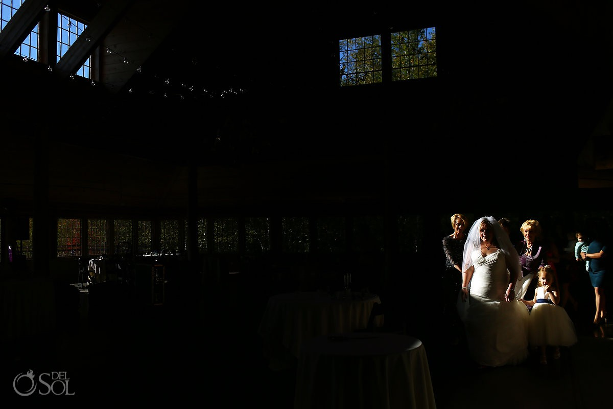 Best Vermont destination wedding venue Amazing light creative photography Wedding at The Ponds at Bolton Valley