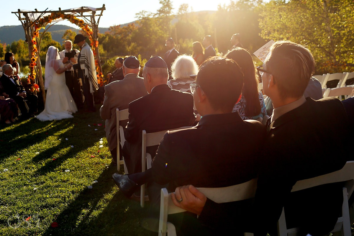 Love is love lgtb wedding guest Sunset light Bolton Valley Resort Vermont United States