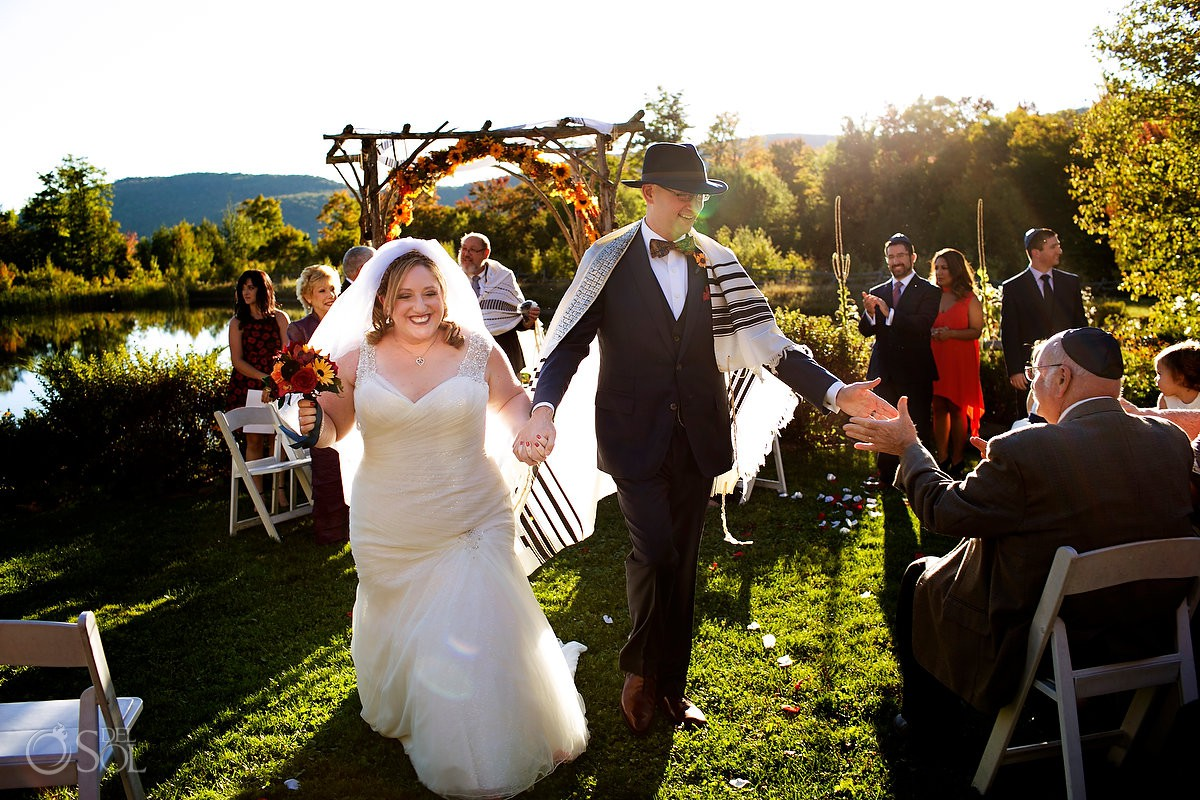 Best wedding venue Vermont Just married wedding at The Ponds at Bolton Valley