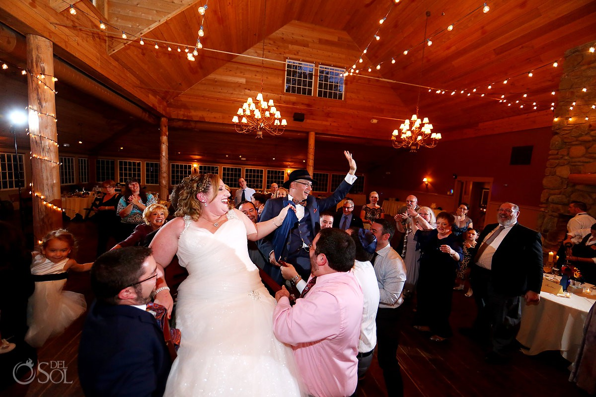 Jewish Hora dance Destination Wedding The Ponds at Bolton Valley Vermont
