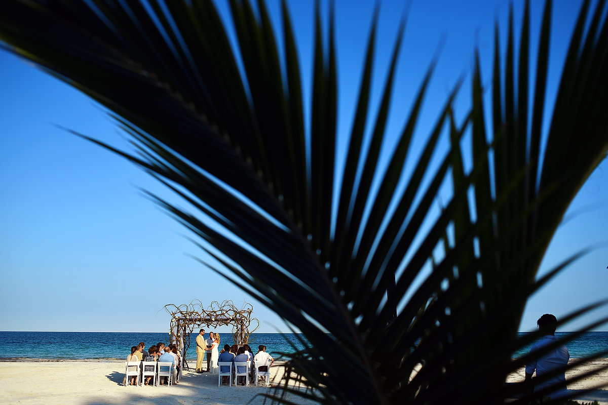 Destination beach wedding venue Zalazzar Beach Bungalows Sian Kaan Tulum