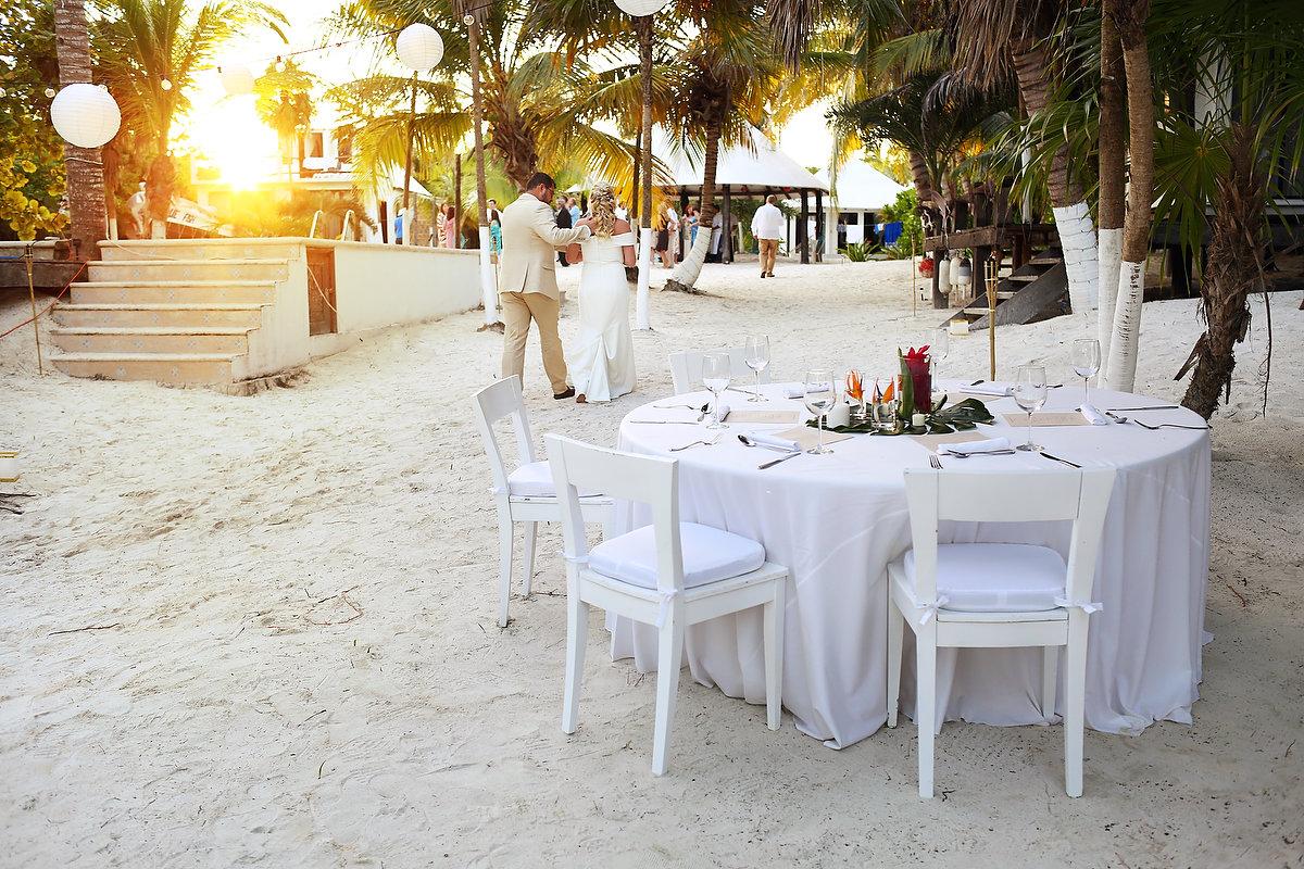 Destination beach wedding venue reception Zalazzar Beach Bungalows Sian Kaan Tulum