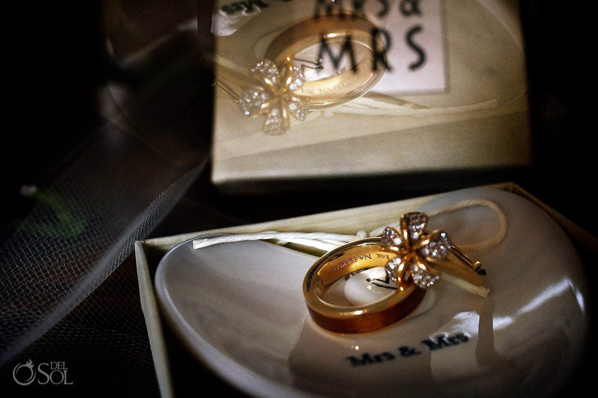 Wedding rings ideas Andaz Mayakoba, Playa del Carmen, Mexico.
