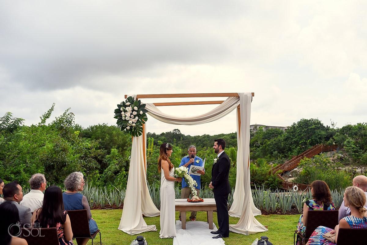 Casa Amate ceremony Riviera Maya Hyatt Andaz Mayakoba wedding Playa del Carmen Mexico