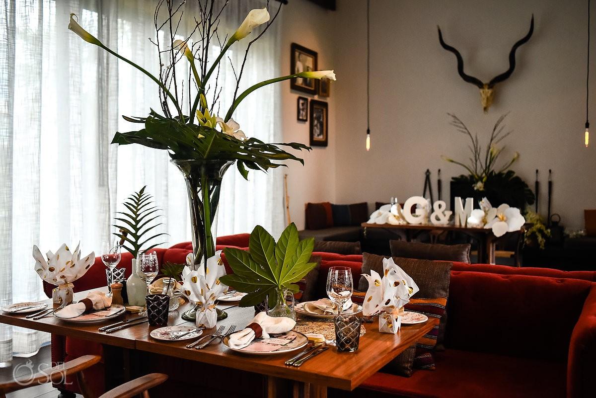 Reception ideas Casa Amate restaurant Andaz Mayakoba Wedding designed by Lucy Gallagher Boutique Weddings.