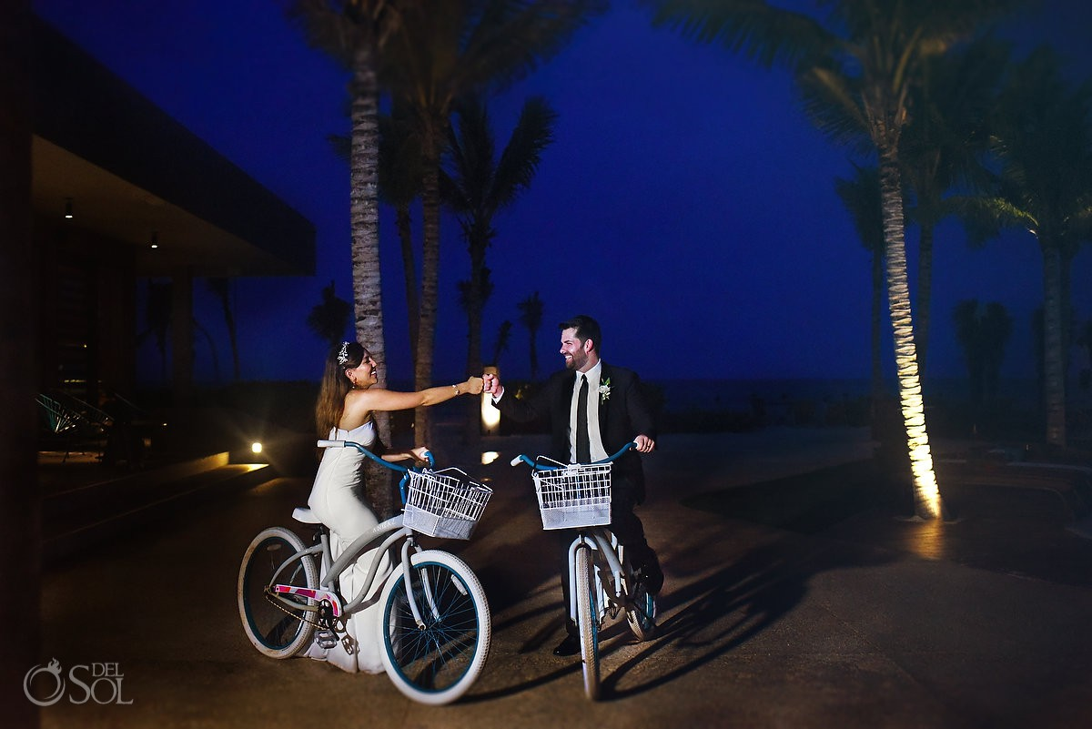 Andaz Mayakoba wedding bicycles experiences Playa del Carmen Mexico.