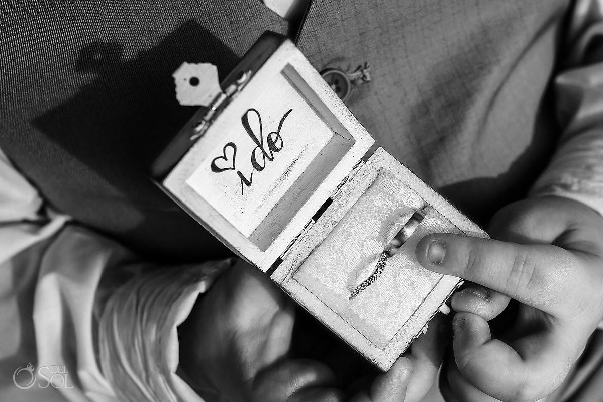 Wedding rings box ideas Dreams Puerto Aventuras Riviera Maya Mexico