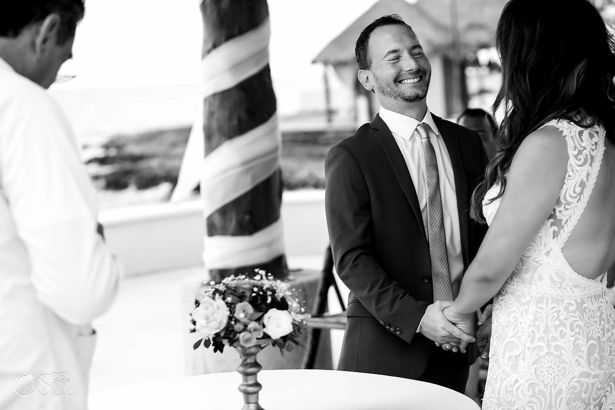 Wedding ceremony moments Dreams Puerto Aventuras Riviera Maya Mexico