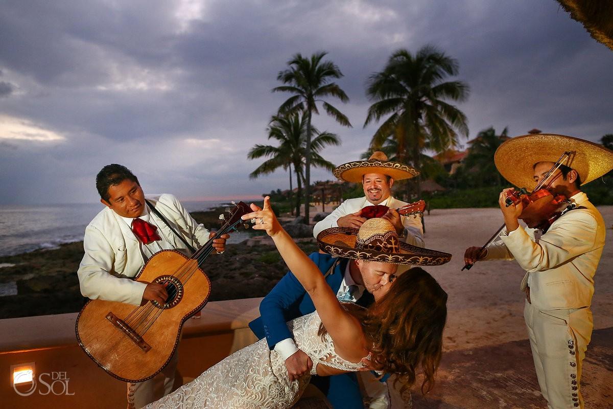 bride and groom dancing mariachi Dreams Puerto Aventuras Riviera Maya Mexico