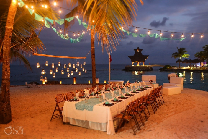 Dreams Puerto Aventuras Wedding reception decoration