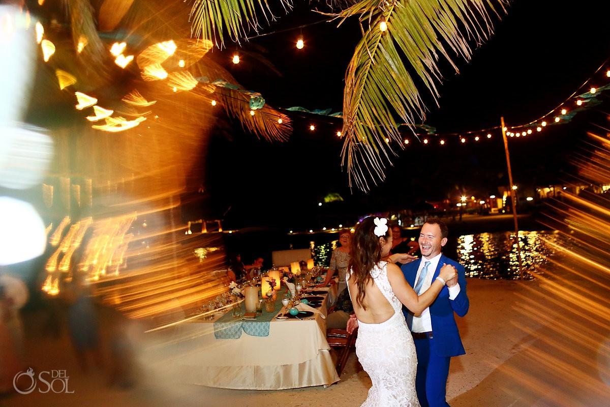 Dreams Puerto Aventuras Riviera Maya Mexico bride and groom first dance