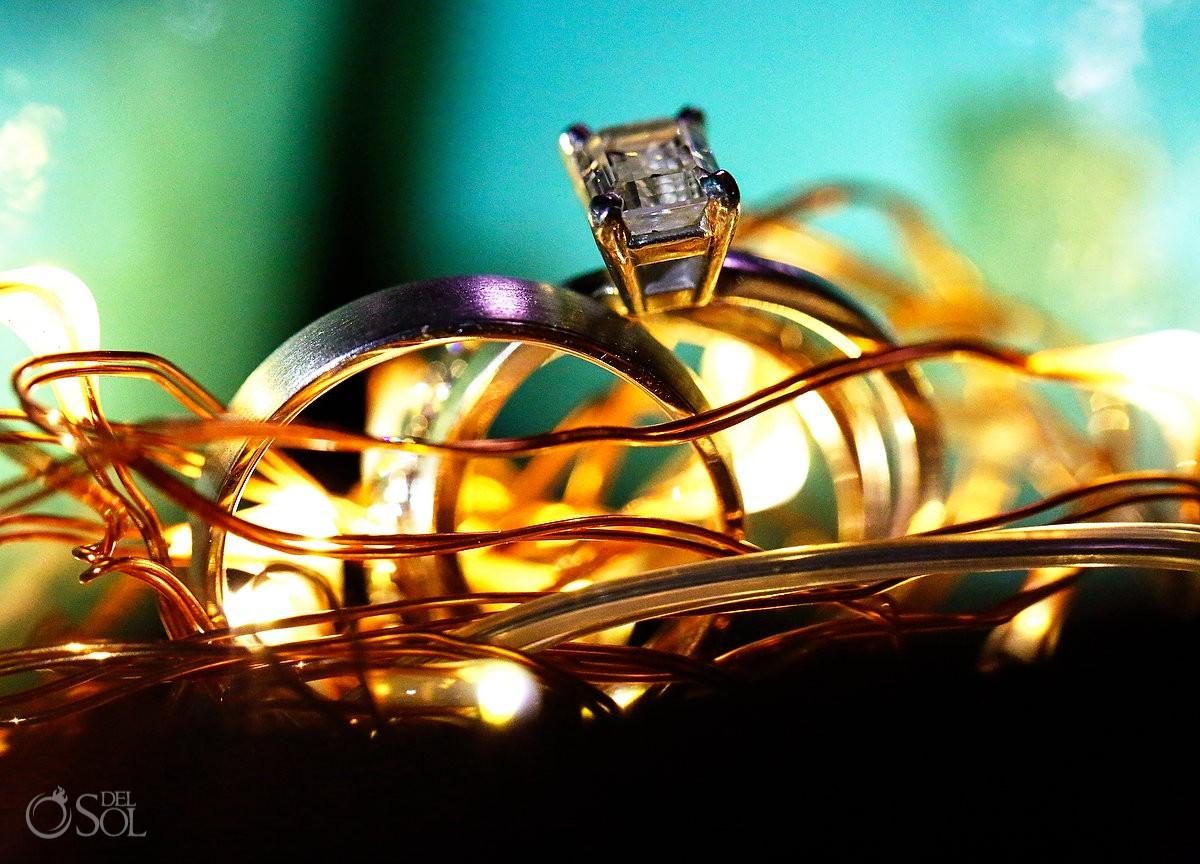 Bride and groom wedding rings Dreams Puerto Aventuras Riviera Maya Mexico