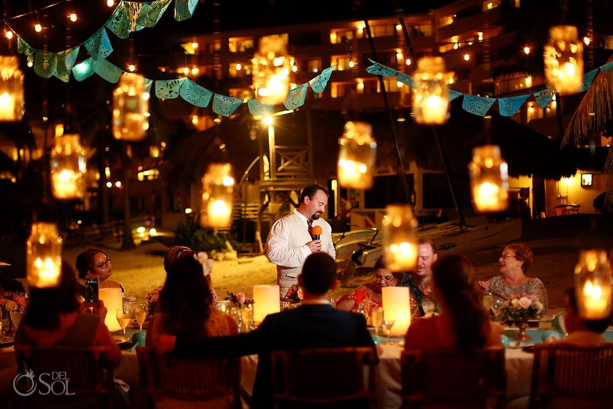 Wedding reception speeches Dreams Puerto Aventuras Riviera Maya Mexico
