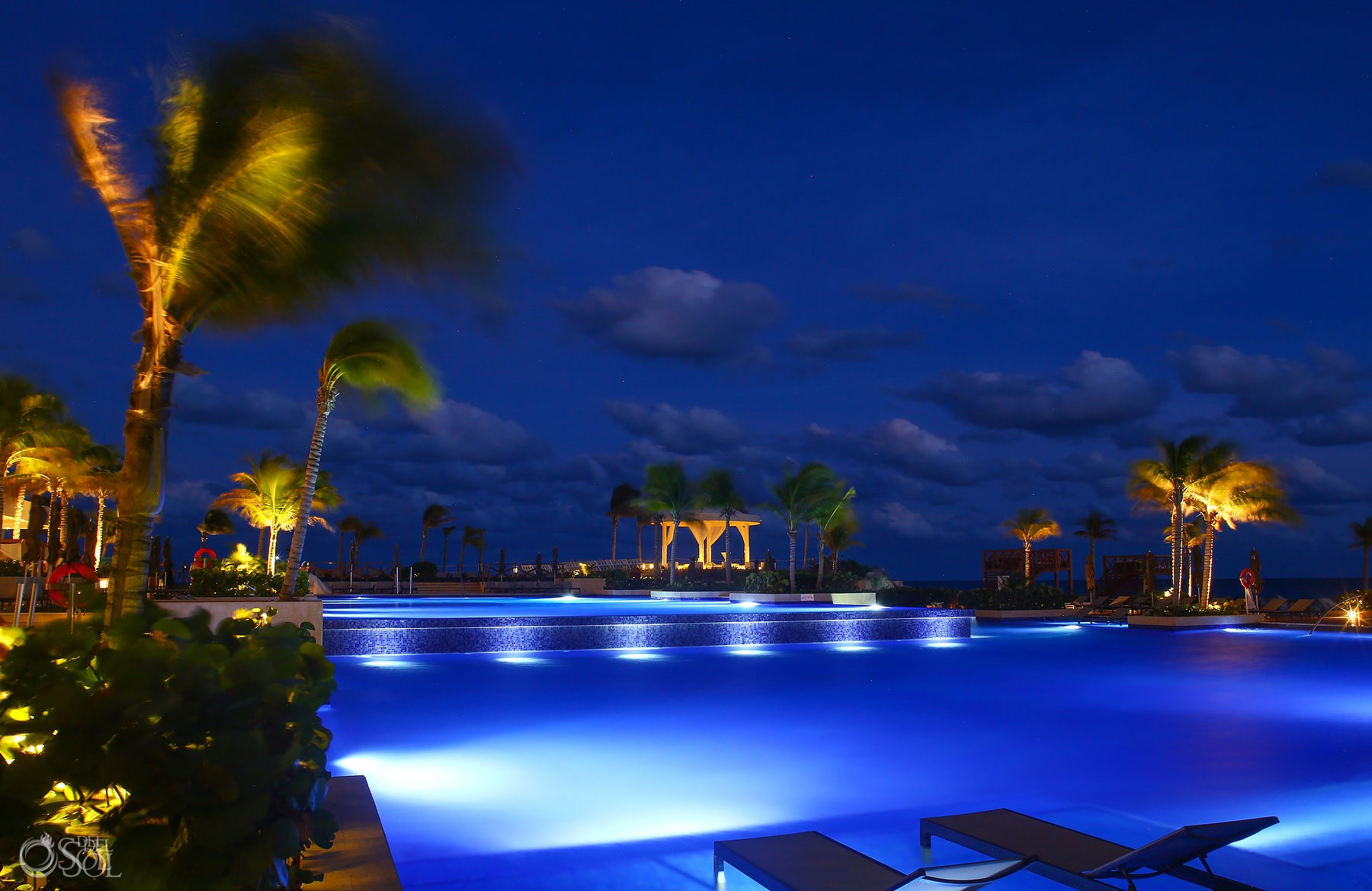 Hyatt ziva cancun pools at night Luxury destination wedding venue