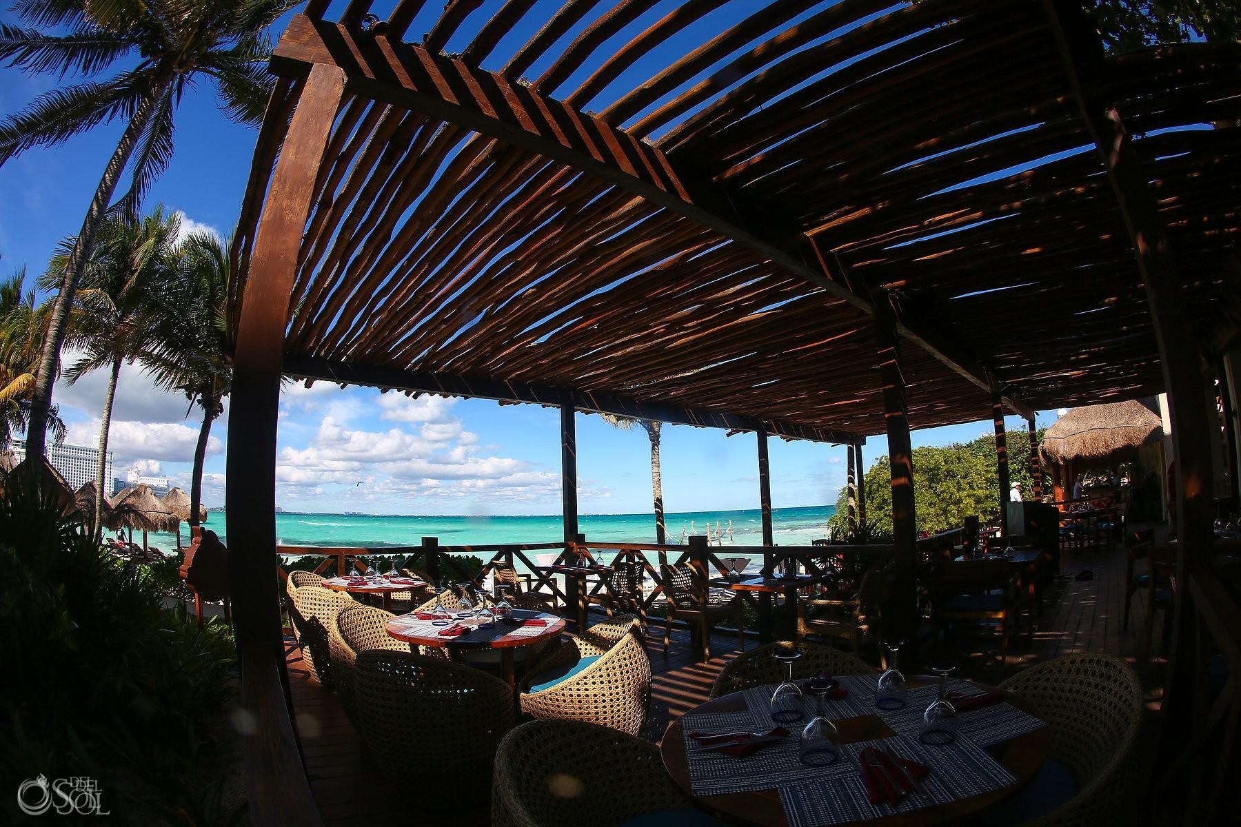 Terrace at Hyatt Ziva destination wedding luxury hotel Cancun Mexico