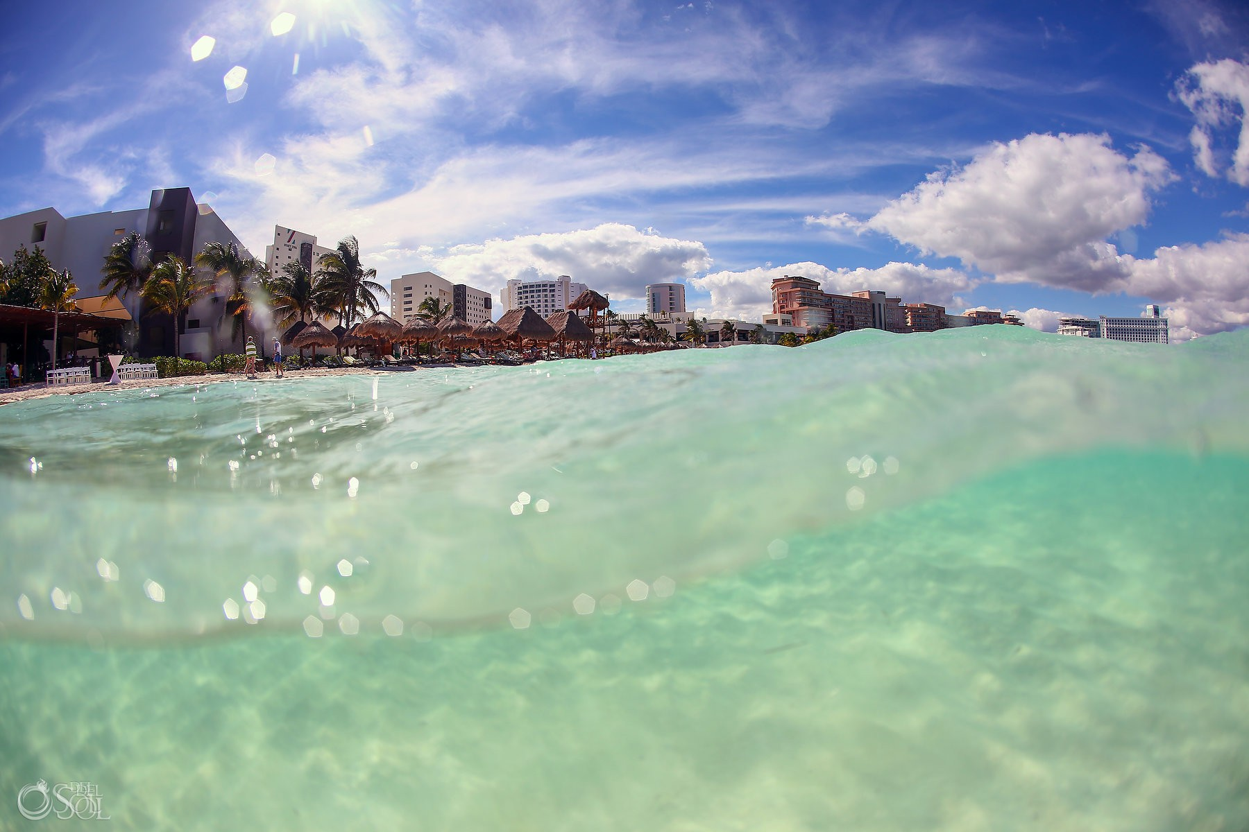 Amazing caribbean ocean perfect for destination weddings at Hyatt Ziva Cancun
