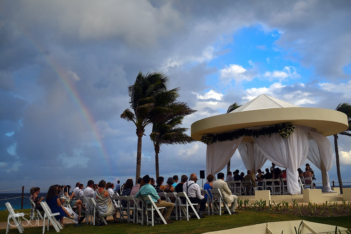 Same sex Destination Wedding Rainbow day LGTBQ symbo pride Hyatt Ziva Cancun Mexico