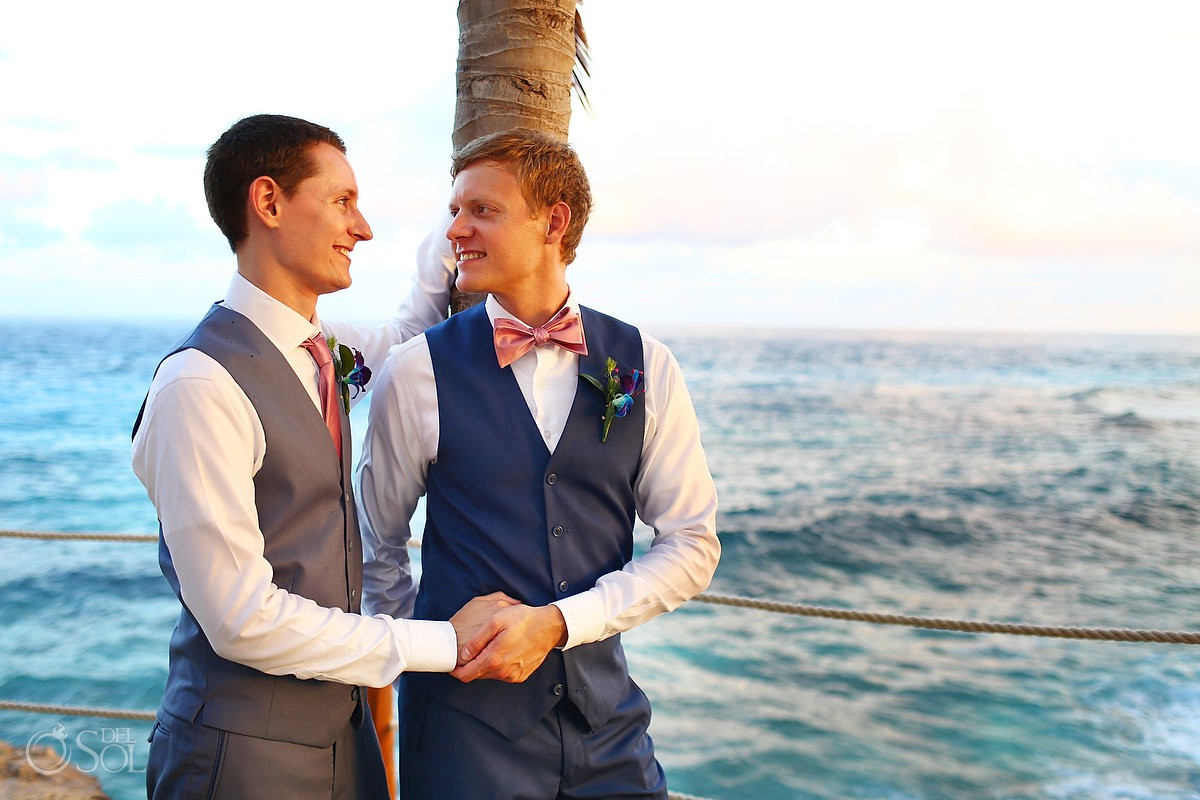 Same sex Destination Wedding Hyatt Ziva Cancun Mexico