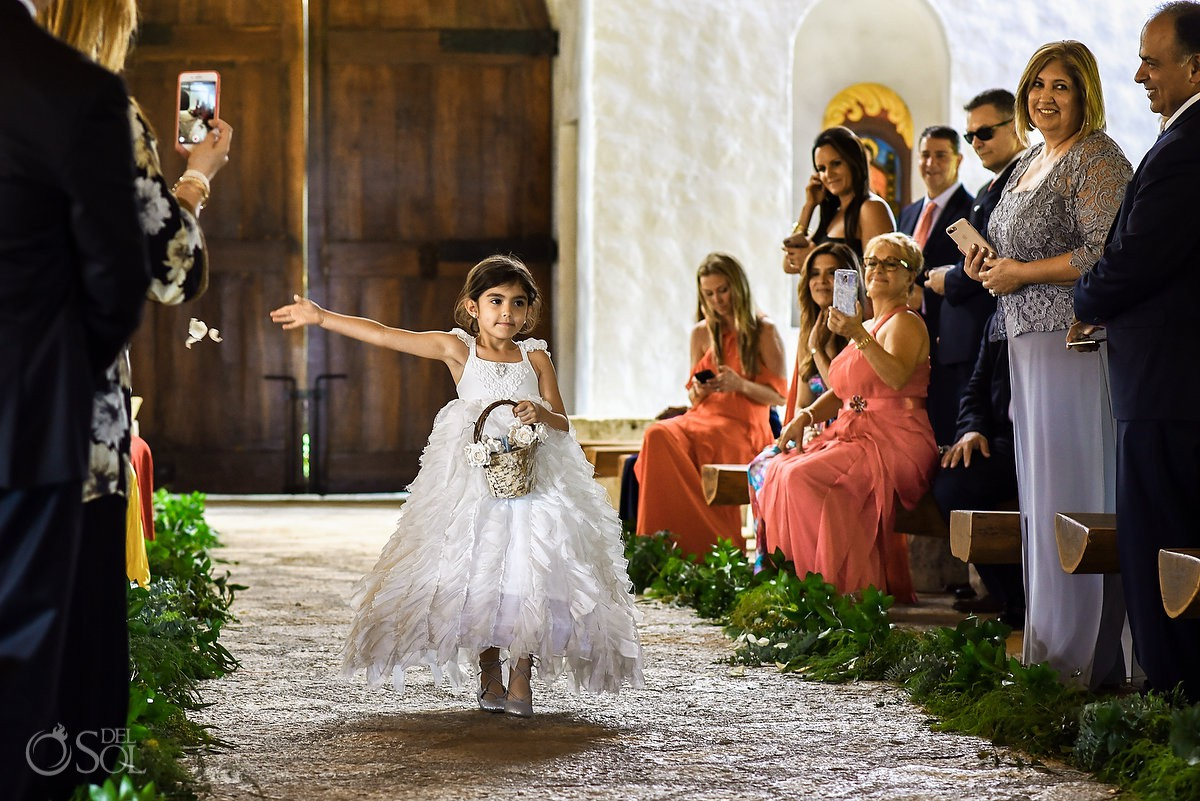 Beautiful flower girl destination weddding Xcaret and Now Sapphire Playa del Carmen Mexico