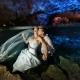 Sexy Romantic Cenote Trash the Dress Riviera Maya Mexico.