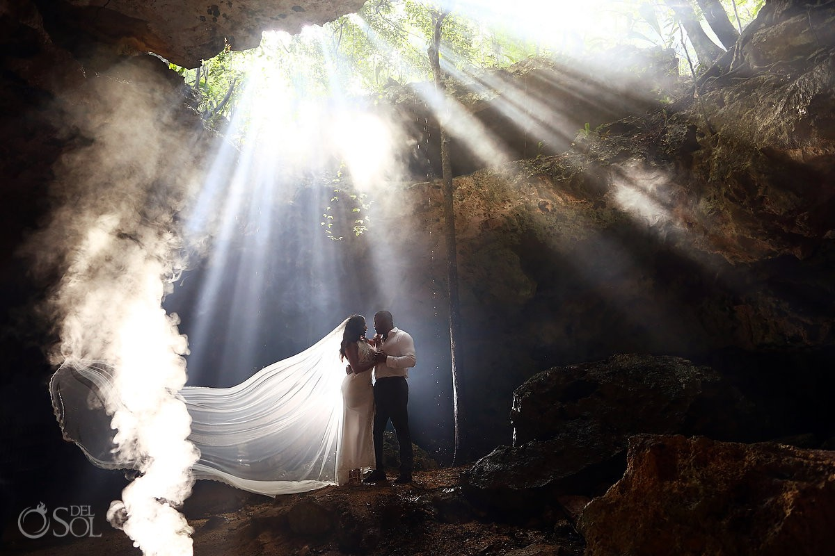 Creative wedding ideas Cenote Trash the Dress Riviera Maya Mexico travel for love
