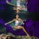 Beautiful bride underwater portrait Cenote Trash the Dress Riviera Maya Mexico