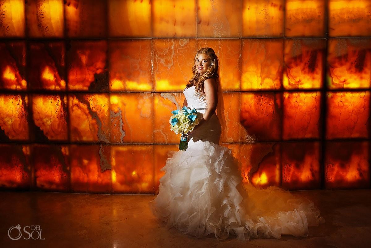 Bride portrait Beach Palace Cancun Mexico