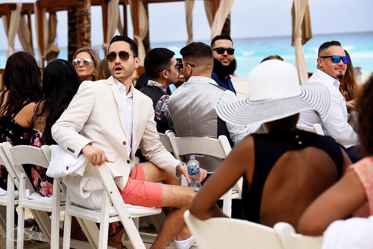 Destination wedding moments Beach Palace Cancun Mexico