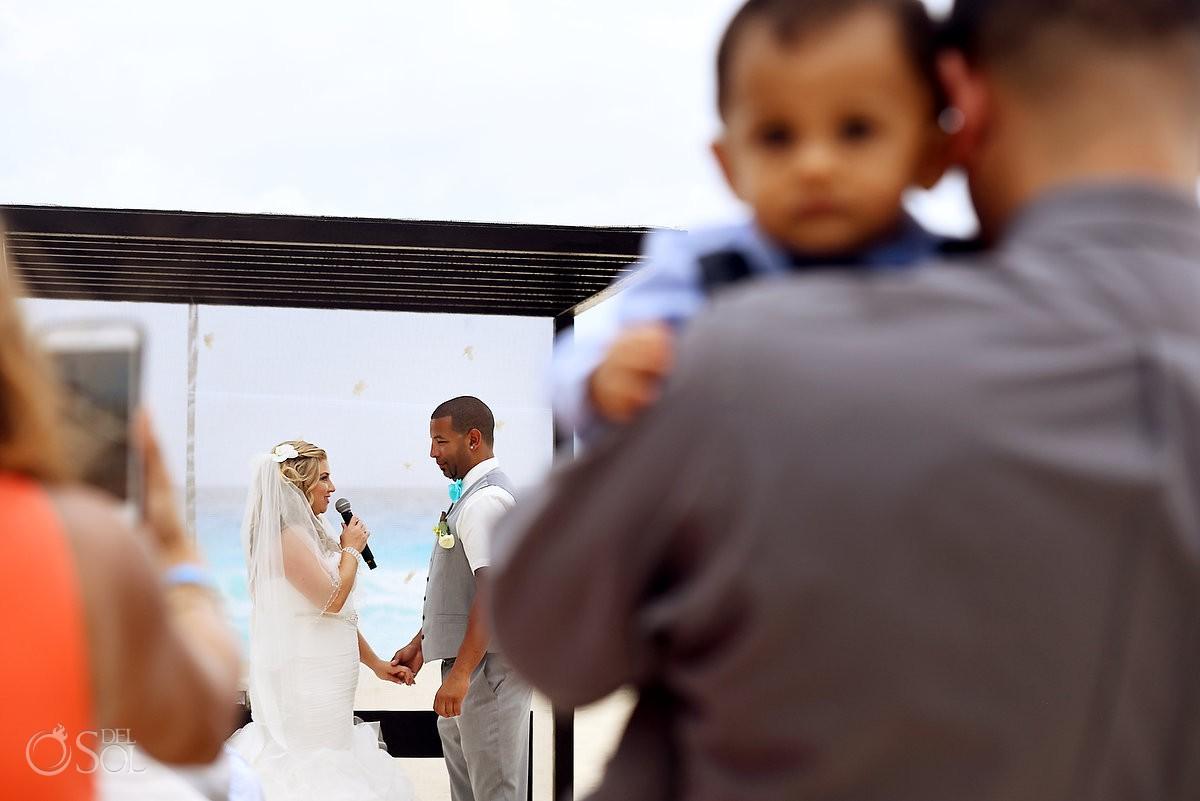 Bride vows wedding Beach Palace Cancun Mexico