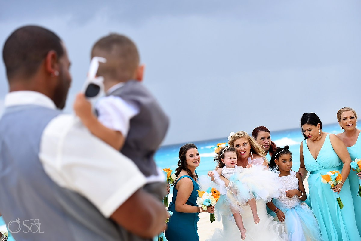 Wedding kids Beach Palace Cancun Mexico