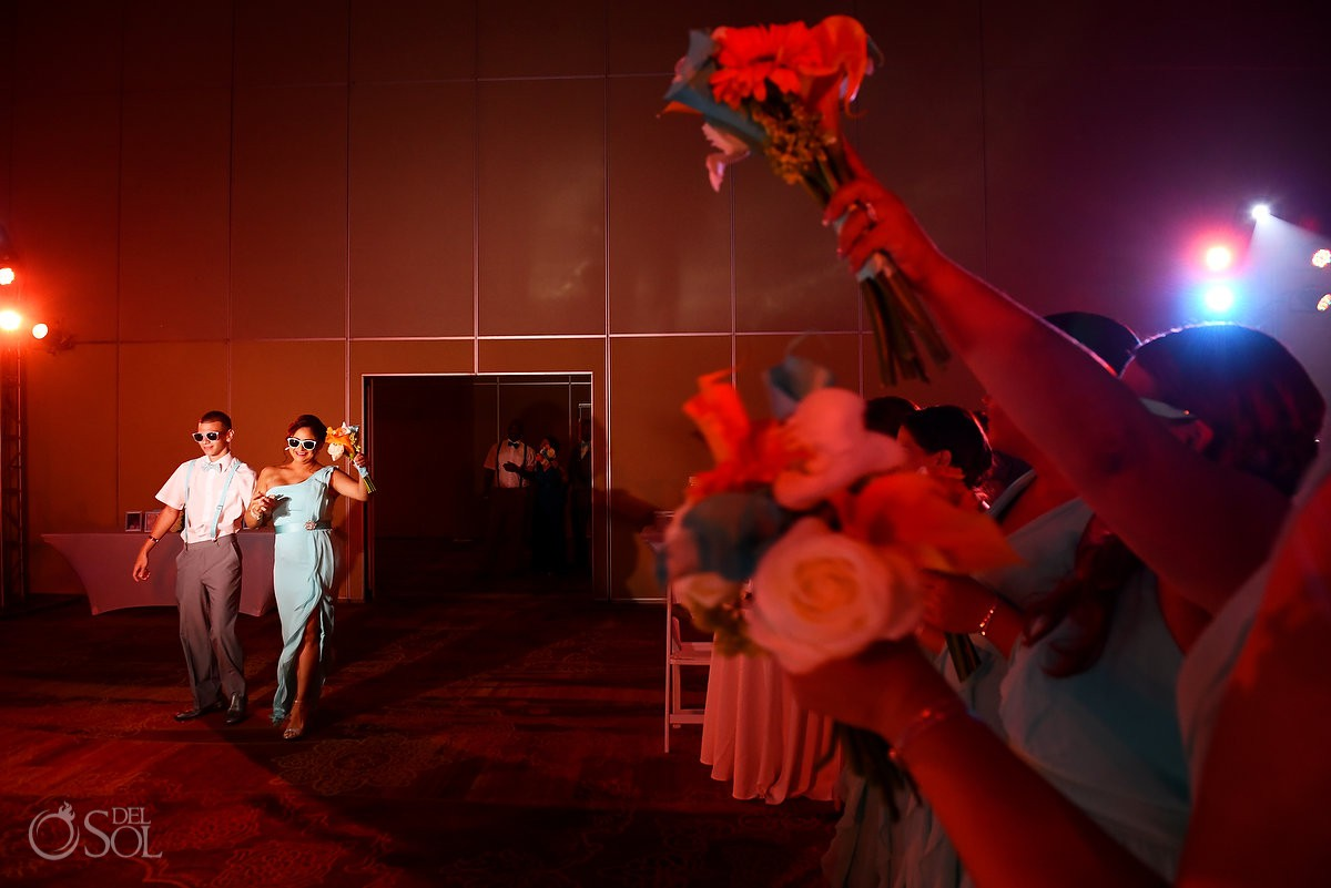 Wedding reception Beach Palace Cancun Mexico